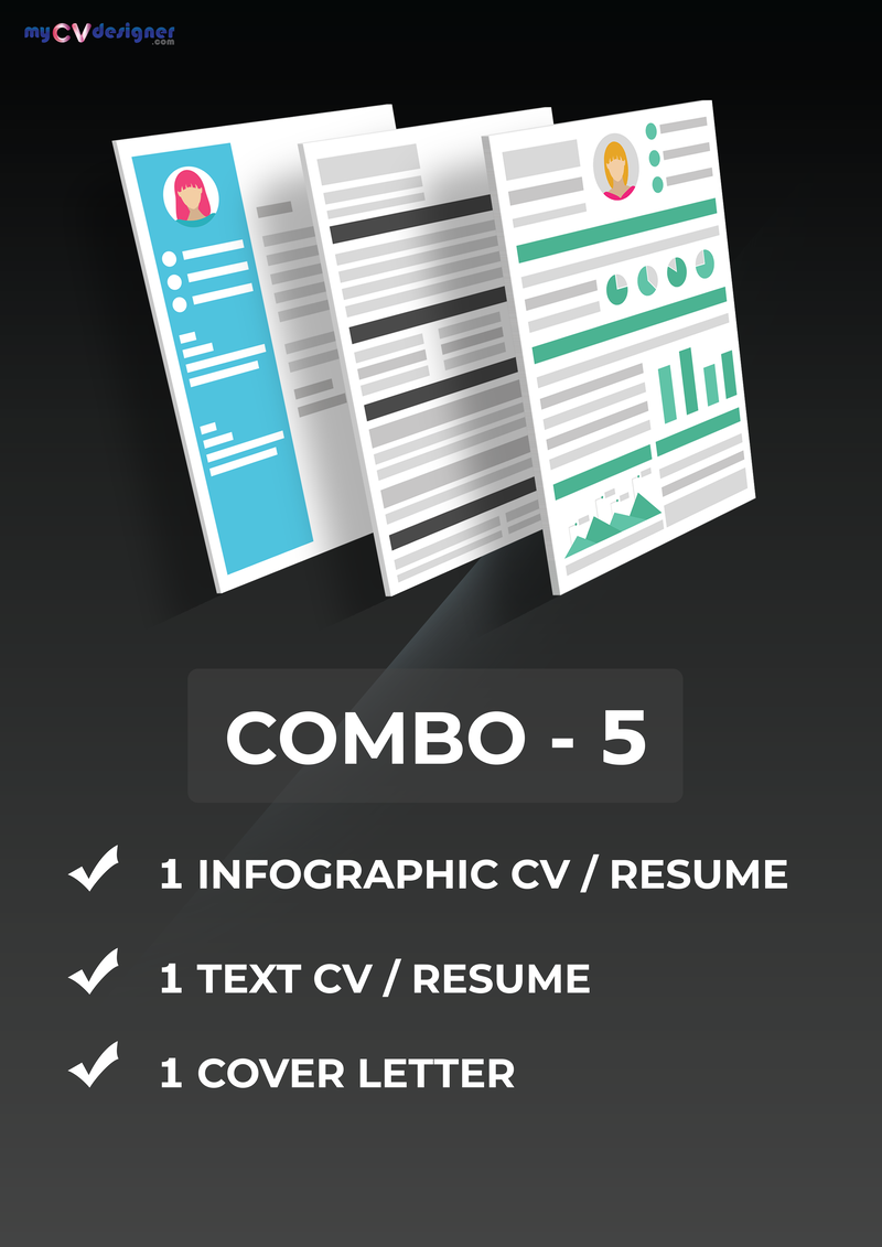 combo-infographic-resume-text-resume-cover-letter