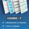 combo-infographic-resume-text-resume-cover-letter-linkedin-profile