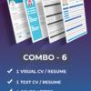 combo-visual-resume-text-resume-cover-letter-linkedin-profile