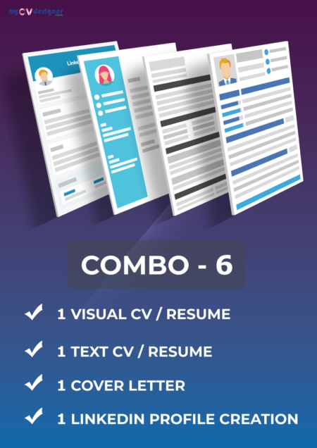 Combo 6 (Visual, Text, Cover Letter, Linkedin)