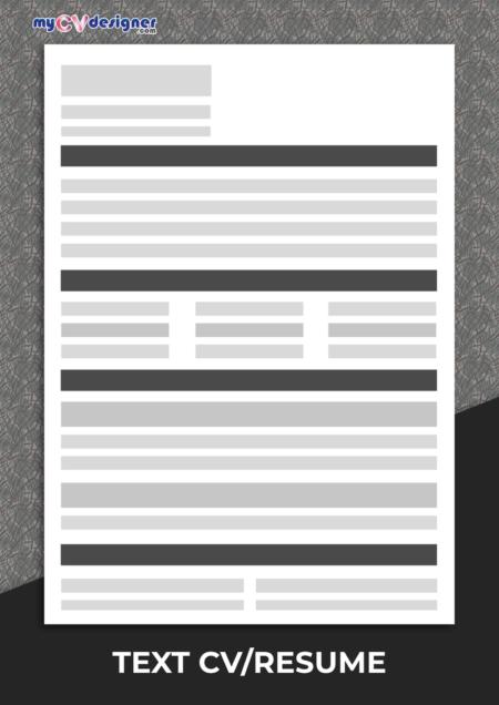 Text CV/Resume