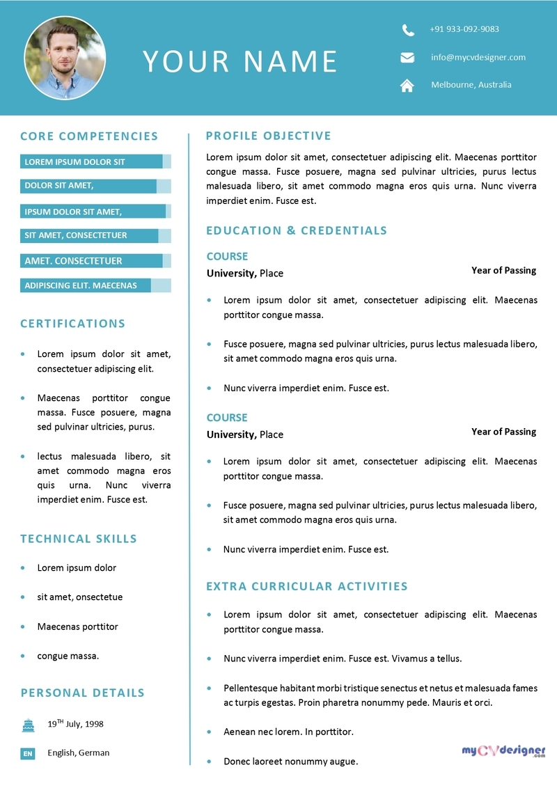 Free Resume Templates Resume Sample Download My Cv Designer