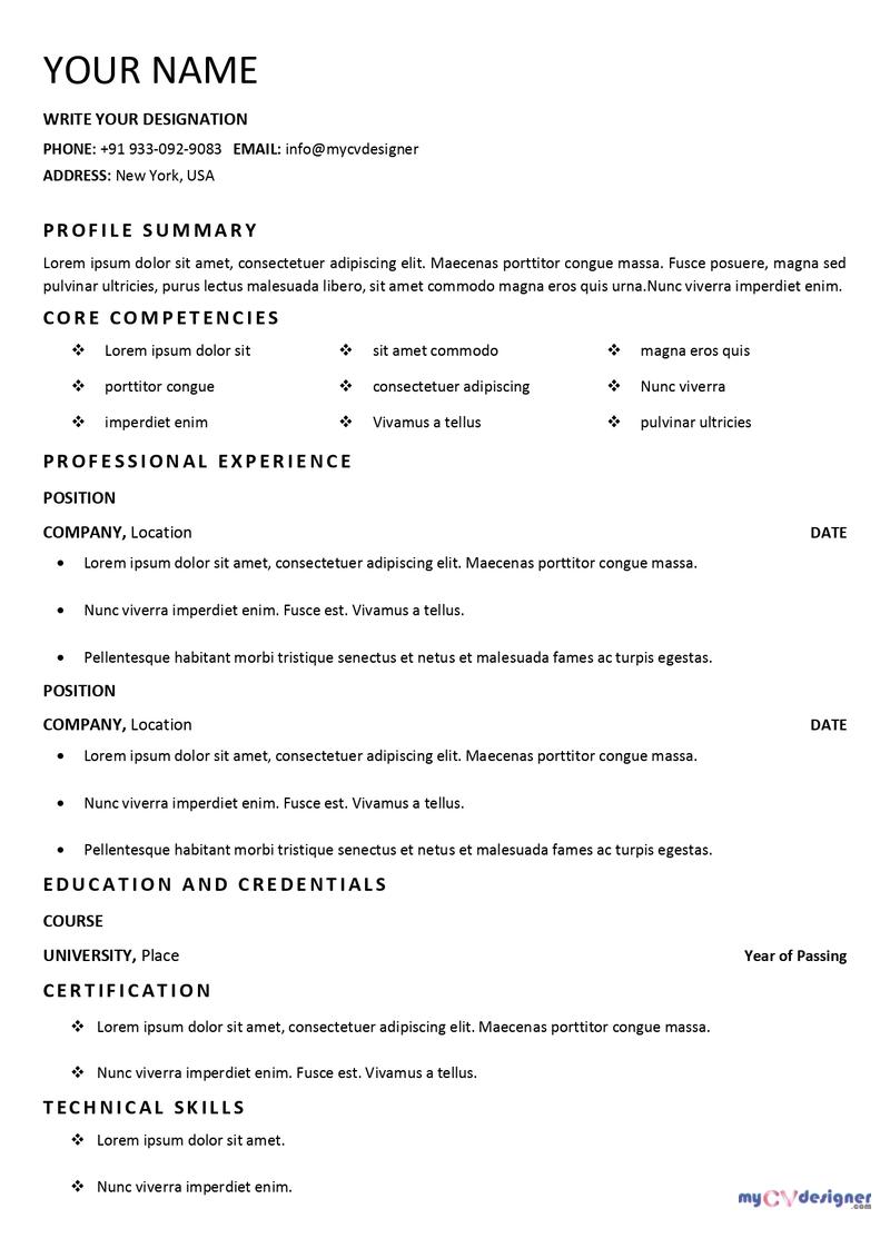 free-text-cv-format-MCDF0007