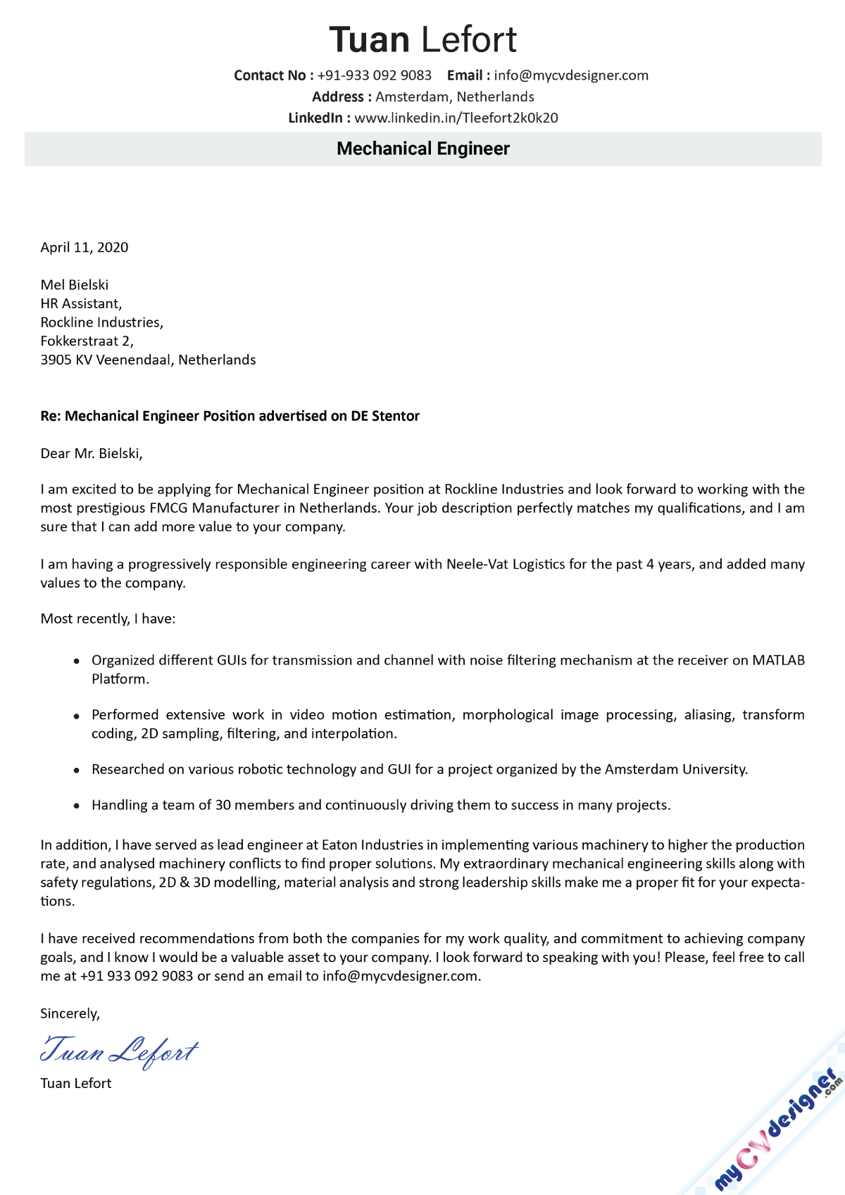 22+ Incredible Mechanical Engineering Cover Letter Sample  You'll Love