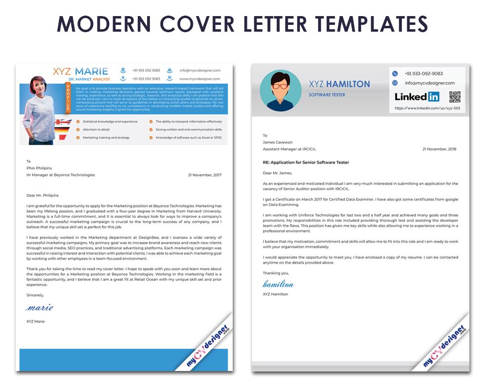 Modern Cover Letter Templates