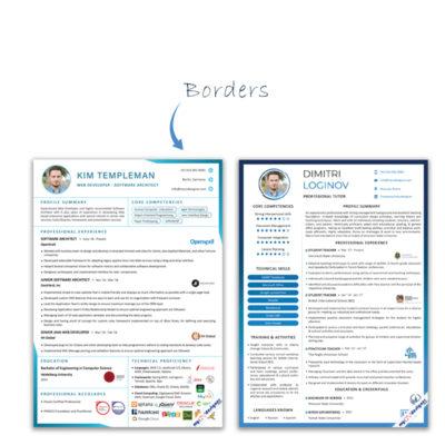 resume borders
