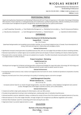 Text CV (MCDT0010)