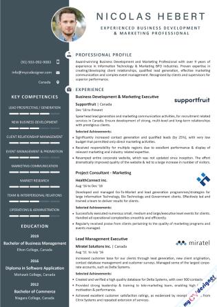 Visual CV (MCDV0029)
