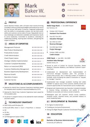 Visual CV (MCDV0025)