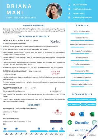 Visual CV (MCDV0030)