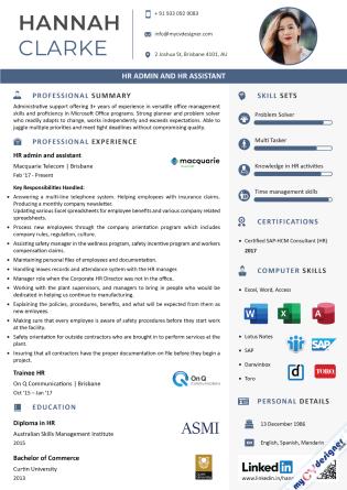 Visual CV (MCDV0046)