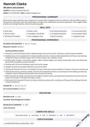 Text CV (MCDT0011)