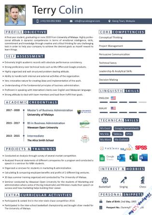 Visual CV (MCDV0005)